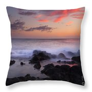 Red Sky Paradise Throw Pillow