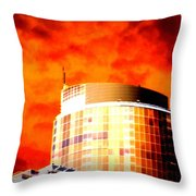 Red Sky Vancouver Throw Pillow