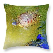 Red Sliders Throw Pillow