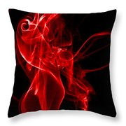 Red Smoke Throw Pillow