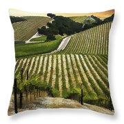 Red Soles Vineyard Throw Pillow