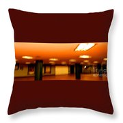 Red Subway Throw Pillow