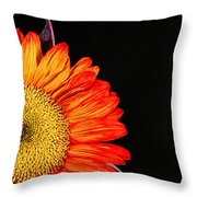 Red Sunflower IIi Throw Pillow