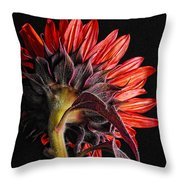 Red Sunflower X Throw Pillow