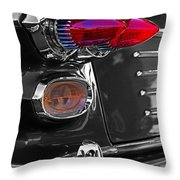 Red Tail Lights Throw Pillow