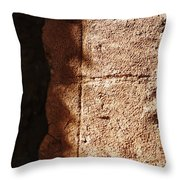 Red Texture Throw Pillow