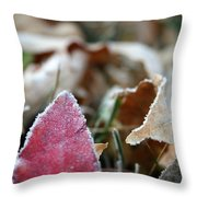 Red Thumbs Up Throw Pillow