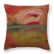 Red Tide White Throw Pillow