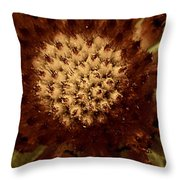 Red Tips Throw Pillow