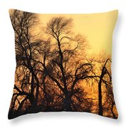 Red Tree Throw Pillow