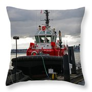 Red Tug Throw Pillow
