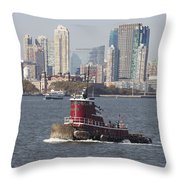 Red Tug Two Throw Pillow