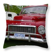 Red Volvo Throw Pillow