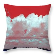 Red White And Blue Farm Throw Pillow