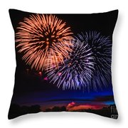 Red White And Blue Throw Pillow by Robert Bales
