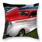 Red White Blue Beautiful Throw Pillow