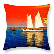 Red White Blue Cape Cod Will Do Throw Pillow