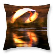 Red White Reflection Throw Pillow
