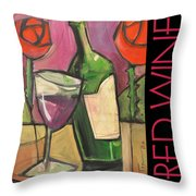 Red Wine Poster Throw Pillow