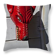 Red Wolf Mask Throw Pillow