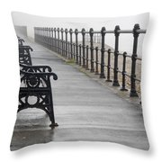 Redcar, North Yorkshire, England Row Of Throw Pillow