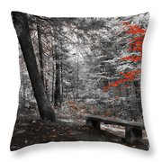 Reds In The Woods Throw Pillow