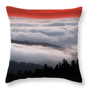Redwood Clouds Throw Pillow