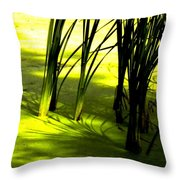 Reeds In Pond Throw Pillow