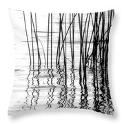 Reeds On The Turtle Flambeau Flowage Throw Pillow
