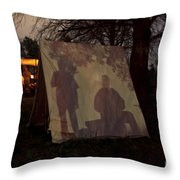 Reenactors Camp Throw Pillow