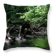 Reflected In Green Throw Pillow