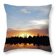 Reflected Sky Throw Pillow