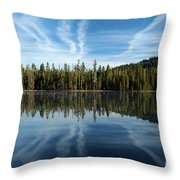 Reflecting Blue Throw Pillow