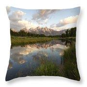 Reflection At Schwabacher Landing Throw Pillow