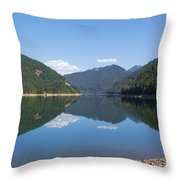 Reflection At The Reservoir Throw Pillow