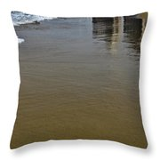 Reflection In The Sand Throw Pillow