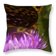 Reflection In The Wing Throw Pillow