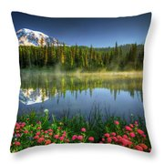 Reflection Lakes Throw Pillow