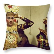 Reflection Of A Kecak Dancer Throw Pillow