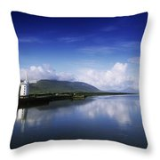 Reflection Of A Traditional Windmill In Throw Pillow