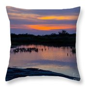 Reflection Of The Sunset Throw Pillow
