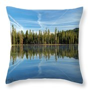 Reflections At The Summit Throw Pillow