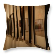 Reflections From A Series Of Painting Frames Throw Pillow