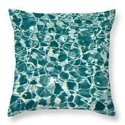 Reflections In A Swimming Pool Throw Pillow