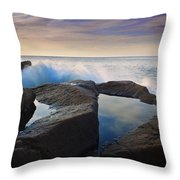 Reflections In Monument Cove Throw Pillow