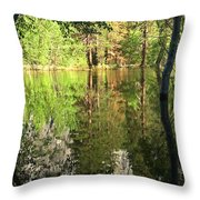 Reflections In The Merced Throw Pillow
