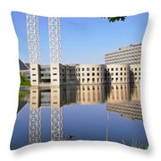 Reflections In The Rideau River Throw Pillow