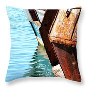 Reflections Of A Rust Bucket Throw Pillow