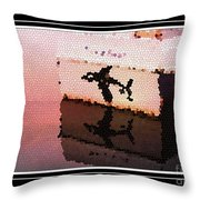 Reflections Of An Orca In Stained Glass Throw Pillow