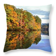 Reflections Of Autumn Throw Pillow by Susan Leggett